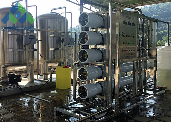 China Compact Design Brackish Water Treatment Systems Siemens / Omron PLC Control distributor