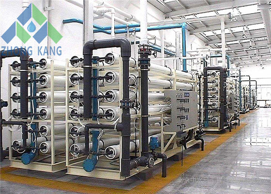 China High Output RO Salt Water Treatment Plant Coated Carbon Steel Frame Material distributor